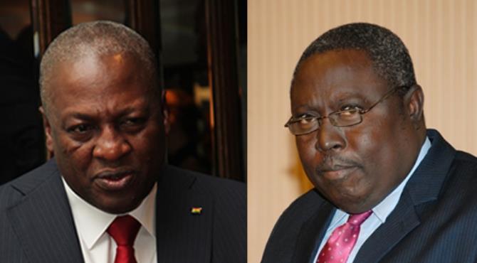 President Mahama and Martin Amidu