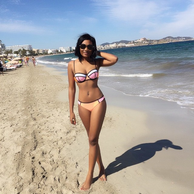 Sandra Ankobiah at Ibiza