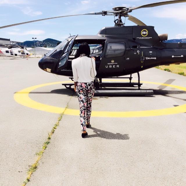 Sandra Ankobiah hiring Helicopter