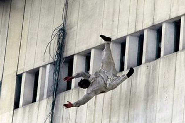 Man Jumping From the Building